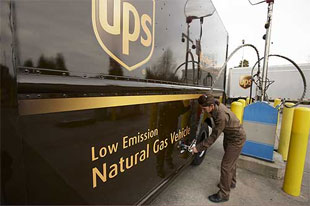UPS CNG-powered vehicles will be clearly identified.