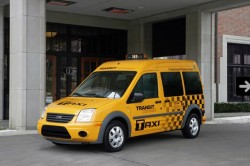 The Ford Transit Connect CNG Taxi ready for 2011 market