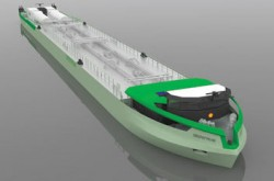 Shell LNG-powered barge (image)