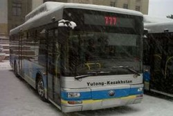 A CNG Bus operating in Almaty (Image: EBRD)