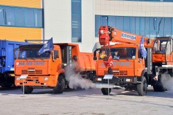 Tatarstan is introduced to Kamaz natural gas vehicles.