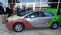 Honda Civic Natural Gas joins Florida State University fleet, 2012 (Image FSU)