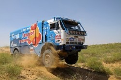 Gas-fueled KAMAZ truck accepts all Silk Way challenges