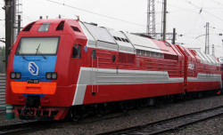 Russian Railways record-setting natural gas locomotive (2011)