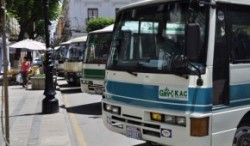 CNG-powered minibuses in Tarija