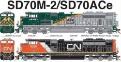 EMD SD70 Locomotives