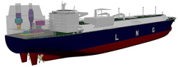 DSIC LNG Carrier with COGES on deck