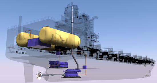 TOTE Marlin Class LNG Propulsion System