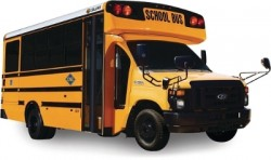 Collins School Bus with Ford 6.8L CNG engine and Wesport WiNG system