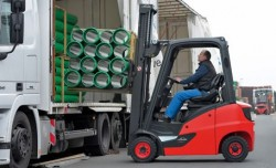 Linde H14-20 EVO forklift with CNG power