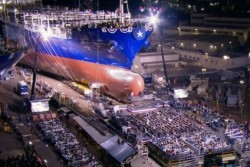 TOTE-1 launch - LNG-fueled containership