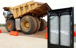 Intelligas technology fitted to Caterpillar mine truck