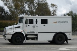 Efficient Drivetrains near-zero CNG hybrid armored security vehicle
