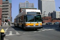 MassDOT CNG bus in service