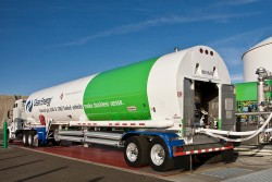 Loading up with LNG in Boron, Calif. (Source: HHP Insight)