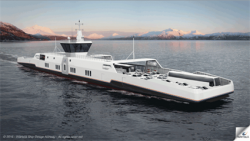 """A complete concept for a series of innovative and cost effective shuttle ferries, featuring zero or low emissions, is being launched by Wärtsilä. The concept has been developed in line with the Norwegian government's new environmental regulations for ferries emphasising the elimination of harmful emissions. This trend is also evident in a number of other countries. The concept has been developed through cooperation between Wärtsilä's Ship Design and Electrical & Automation offices. The single solution offering provides customers with an optimised design and a single point of contact, thereby streamlining the engineering, integration, and follow-up procedures throughout the project phase. The design characteristic focuses on high energy efficiency with low resistance, both above and below the water line. The ferries are designed to run entirely on batteries or in a battery-engine hybrid configuration where the fuel options are liquefied natural gas (LNG) or biofuel. In plug-in operation, the fuel consumption is reduced by 100 percent compared to conventional installations, and all local emissions are completely eliminated. With the plug-in hybrid configuration, emissions are reduced by up to 50 percent. """"Wärtsilä is fully committed to producing ship designs, marine products, and integrated solutions that make a significant contribution towards lowering the environmental footprint of shipping. This new concept is one more example of this focus. By making it possible for ferries to eliminate exhaust emissions entirely, we feel that we are again acting proactively to protect the marine environment,"""" says Riku-Pekka Hägg, Vice President, Ship Design, Wärtsilä Marine Solutions. The concept features Wärtsilä's new wireless inductive charging system, which for typical shuttle ferry operations involving 20,000 or more departures a year, is considered a notable benefit because of its time and energy savings. The system eliminates physical cable connections, thus reducing wear"""