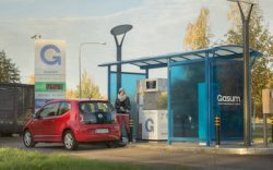 Gasum CNG station at Verno