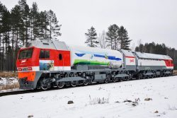 GT1h-002 Gas Turbine LNG Locomotive (Sinara Group, Russia)