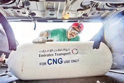 Emirates Transport CNG cylinder installation
