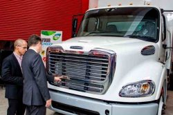 Freightliner M2 112 CNG at launch