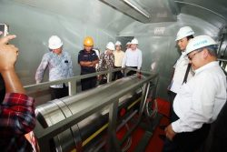 LNG tank on Indonesian trial train