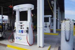 ANG dispensers at CNG station