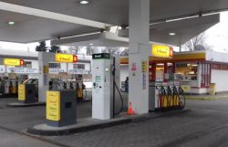 Bonett CNG station at the Shell petrol station in Hodonin, Czech Rep.