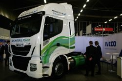 Iveco Stralis NP LNG on display at NGV Global 2017