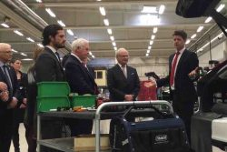 Sweden's King Gustav visits Westport Volvo facility