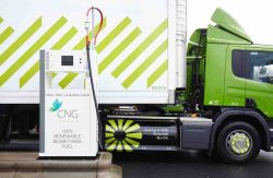 UK Waitrose Scania fills with biomethane