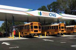 Pasco County Schools CNG station and buses