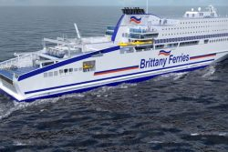 Brittany Ferries new vessel Hornfleur LNG-electric-power