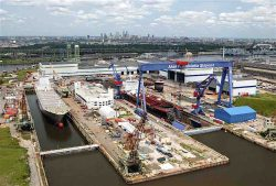 Philly Shipyard, USA aerial view