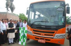 Tata Motors biomethane bus, launched at Urja Utsav