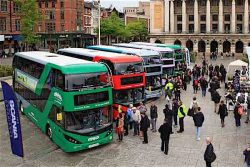 Scania doubledecker biogas buses for City of Nottingham
