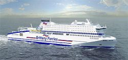 Brittany Ferries RoPax ferry Honfleur LNG illustration