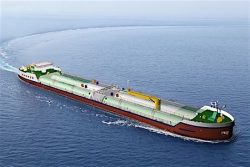 LNG bunkering barge for Shell