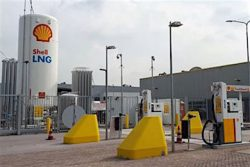 Netherlands Ferox LNG Shell station at Waddinxveen
