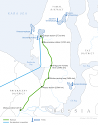 Gazprom Yamal rail map