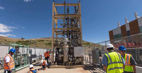NREL ESIF power-to-gas test facility installation