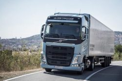 Volvo FH hill climbing in Spain