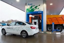 Biggest CNG station in Russia and Europe, operated by Gazprom