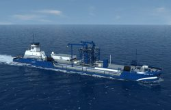 Shell LNG Barge illustration