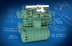 WinGD DF LNG engine 72df