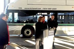BC Transit Whistler New Flyer CNG launch