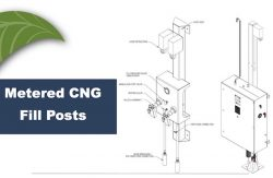Kraus CNG metered fill post diagram
