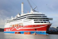 MS Viking Grace fitted with rotor sail by Norsepower