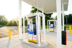 CNG pumps at Trillium station