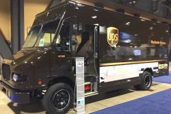 UPS van with Agility fuel system onboard at ACT Expo May 2018