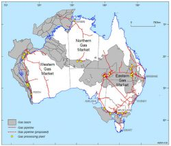 Australia's gas facilities